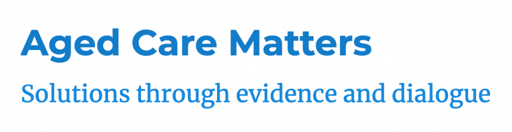 Aged Care Matters logo and slogan